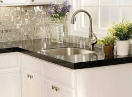 Tile Backsplashes With Granite Countertops Enchanting Black Granite Countertops With Tile Backsplash Signedbyange