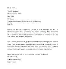 Retail Pharmacist Cover Letter Cover Letter For Pharmacist Letter 3