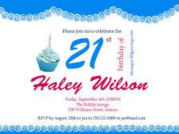 invitation wording for 21st birthday
