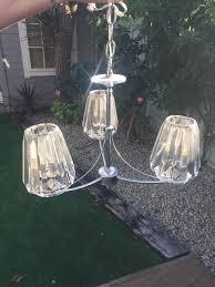 laura ashley capri 3 light chandelier with glass shades