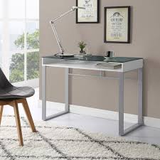 Desk glass top Executive Black Metal Frame And Clear Glass Top Elegant Lightweight And Easy On The Eye Nothing Will Make It Easier To Work Than Simple Desk Like This Officedeskcom Top 10 Styles Of Glass Desks To Modernize Your Office Space