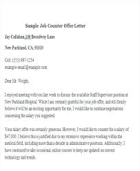 job offer salary sample job offer letter template and salary negotiation in counter