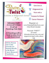 careone at ridgewood avenue painting with a twist fundraiser