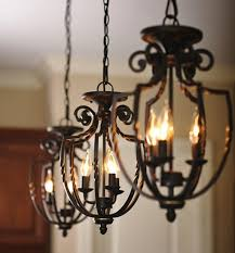 living lovely wrought iron chandeliers rustic