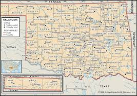 state and county maps of oklahoma inside map counties