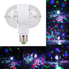 Rotating Led Disco Light Bulb Details About 5w E27 B22 Rgb Dual Crystal Ball Rotating Led Stage Light Bulb Disco Party Lamp