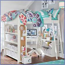 loft beds for kids pottery barn. Brilliant Kids Bedroom Cool Pottery Barn Kids Beds Loft Bed With Desk And Bookcase  Lamp On For A