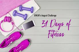 August Challenge 31 Day Fitness Challenge Black Weight