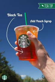 sweet peach makes a perfect pliment to a gl of bold iced black tea for this tea tip ask your starbucks barista to add peach flavor to your teavana