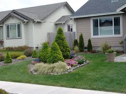 Landscape Pre Planned Garden Designs What To Do In Middle Of Front Lawn Flower Landscaping
