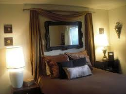 Headboard ideas - I want a cute mirror with pink ombr drapes and a white  comforter with black sheets, pink pillows