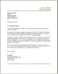 Sample Cover Letter For Project Manager Job Sample Cover Letters For