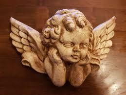 1 architectural ornate plaster cherub