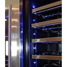 wine lighting. Schmick Upright Beer And Dual Wine Fridge - Soft Blue Led Lights Give A Cosy Feeling Lighting Y