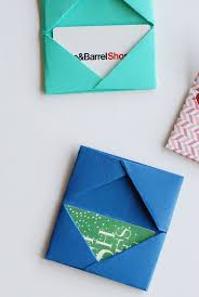 Homemade Gift Card Holders Free Paper Crafts Tutorial Making
