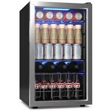 76 can beverage refrigerator cooler w glass door stainless steel soda beer wine mini fridges best canada
