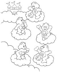 Small Picture Care Bears Coloring Pages 13 Coloring Kids