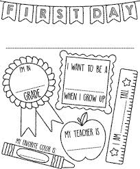 First Day Of School Sign Coloring Page Crayolacom