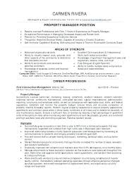 Manager Resume Example Property Manager Resume Example Sample