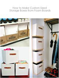 diy custom sized storage boxes from foam boards northstory