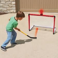Hockey Goal Light And Horn The Light And Horn Hockey Net Hammacher Schlemmer