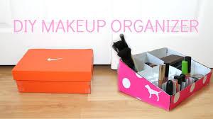 diy makeup organizer from a shoe box diy vs pink makeup organizer