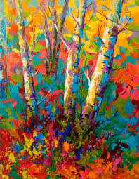 abstract fall tree paintings leaves art abstract autumn