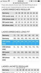 Womens Cavallo Corvina Breeches Grey Full Seat Us Size 34l