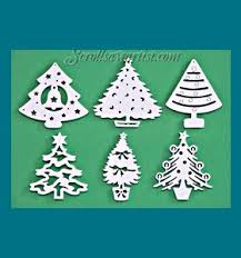 scroll saw christmas ornaments. scroll saw patterns :: holidays christmas traditional ornaments tree - e