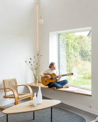 window seat from slab of wood