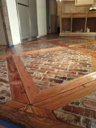 faux brick flooring vintage