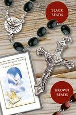confirmation rosary boys black wood confirmation gift boy holy spirit