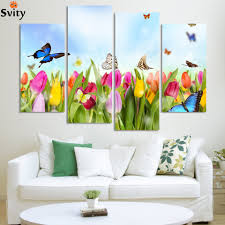 Modern Wall Paintings Living Room Online Buy Wholesale Butterfly Wall Painting From China Butterfly