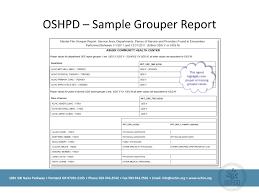 Oshpd Chart Of Accounts Ppt Ochins 2012 Learning Forum California Users Group Bi