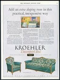 1927 kroehler davenport sofa bed color