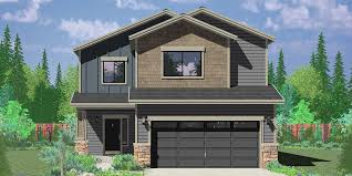 house front color elevation view for 10179 affordable 2 story house plan has 4 bedrooms and