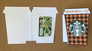 Halloween Gift Cards Trick Or Treat Yoself Starbucks Gift Card Holder Free