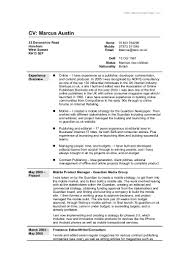 Full Resume Format CV in Word format 1