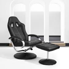 office recliner chair. Amazon.com: HOMY CASA Homycasa Leisure Office Recliner Chair Ergonomic Design Racing Style Task High-back With Foot Stool Ottoman Black (black): T