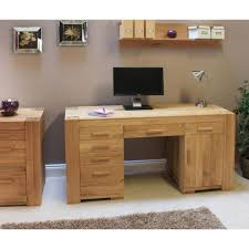atlas chunky oak hidden home. Best Furniture Therapy Atlas Twin Pedestal Home Office Desk Solid With Oak . Amazing Chunky Hidden O