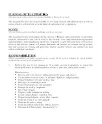 Resume Specialist Impressive Resume Job Responsibilities Accounts Payable Responsibilities Resume