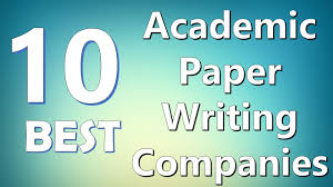 top best academic paper writing companies
