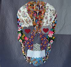 Reserved for libraryrose | Sugar skulls, Raw edge applique and ... & Background colour · Sugar Skull Quilt ... Adamdwight.com