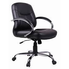 office chair black pvc task secretarial low back office chair tgc03