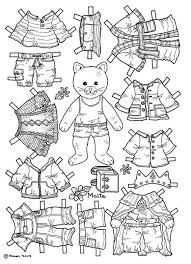 Paper Dolls Coloring Pages 71 With Paper Dolls Coloring Pages