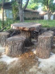 furniture made from tree stumps. Table And Chairs Made Out Of Tree Stumps Pretty Cool Fashion 4 With Regard To Outdoor Stump Plan 16 Furniture From .