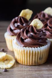 chocolate cupcakes with chocolate icing. Brilliant Chocolate Super Flavorful Perfectly Moist Banana Chocolate Chip Cupcakes With  Frosting If You Love For With Icing P