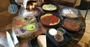 4 olive garden entrees 2 soups salads 4 breadsticks pumpkin cheesecake for under 30