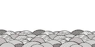波 海 金 横 大 波なし モノクロ 和柄2019 和柄モノクロ写真