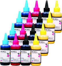 <b>Ink</b>-Well <b>Dye Ink For 4 Color</b> Epson Printer, Pack Size: 100 Ml, 1 Kg ...